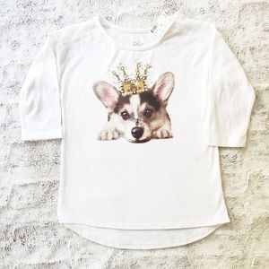 Justice Embellished Top NWT Dog With Crown | 8